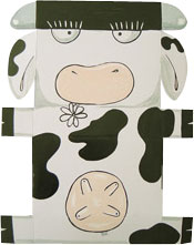this is a boxdoodle. It looks like a cow, and was made for my good friend John.